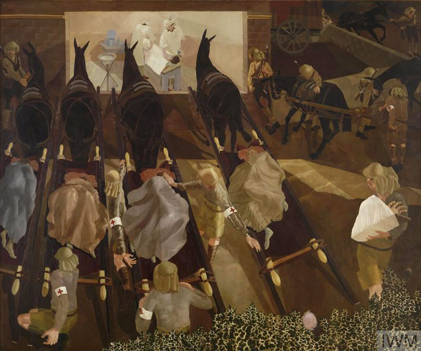 Travoys for Wounded Soldiers in Macedonia by Stanley Spencer 1916