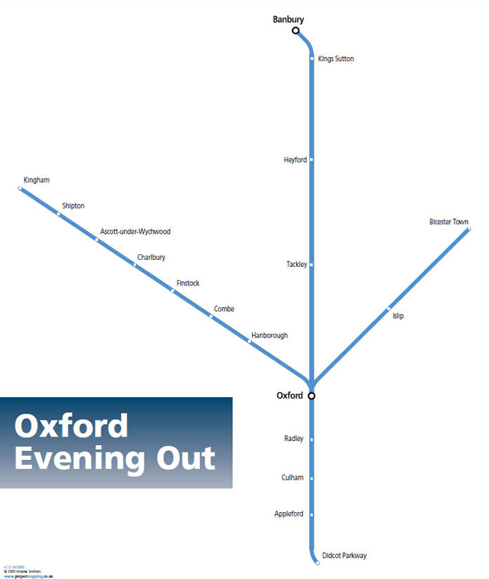 Oxford Evening Out Map